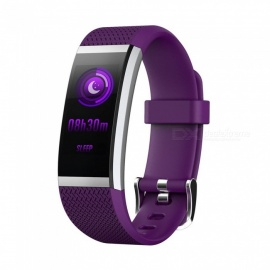 FIT HR2 Waterproof Sports Smart Bluetooth Bracelet with Heart Rate Monitor, Information Call Reminder for Android, iOS - Purple