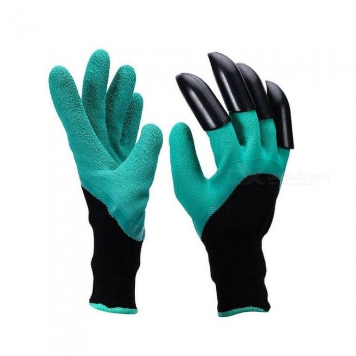 P-TOP Non-Slip Garden Genie Gloves with Single Claw for Digging & Planting (2 PCS)