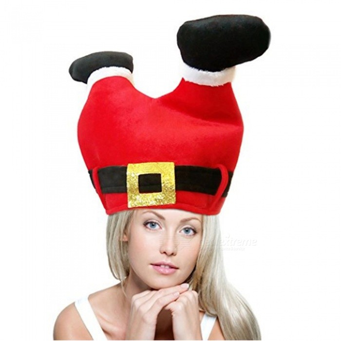 Durable Unique Creative Funny Pants Shaped Christmas Hat for Festival Party DecorationChristmas Gadgets<br>Form  ColorRed + BlackMaterialNon-wovenQuantity1 setSuitable holidaysChristmas,UniversalPacking List1 x Christmas hat<br>