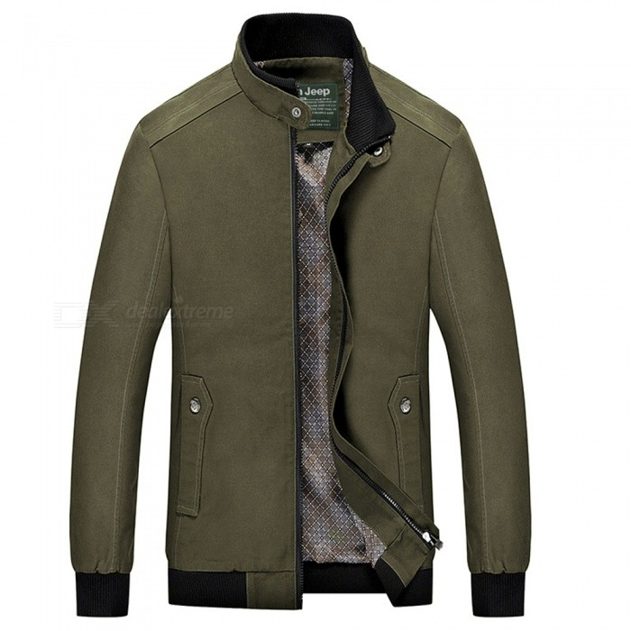 555 Casual Style Long Sleeved Pure Color Zipper Mens Cotton Slim Jacket for Outdoor Activities - Army Green (2XL)Jackets and Coats<br>Form  ColorArmy GreenSizeXXLModel555Quantity1 DX.PCM.Model.AttributeModel.UnitShade Of ColorGreenMaterialCotton and polyesterStyleFashionTop FlyZipperShoulder Width46.7 DX.PCM.Model.AttributeModel.UnitChest Girth114 DX.PCM.Model.AttributeModel.UnitWaist Girth108 DX.PCM.Model.AttributeModel.UnitSleeve Length67 DX.PCM.Model.AttributeModel.UnitTotal Length70 DX.PCM.Model.AttributeModel.UnitSuitable for Height175 DX.PCM.Model.AttributeModel.UnitPacking List1 x Coat<br>