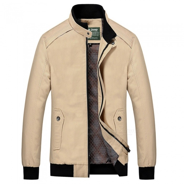 555 Casual Style Long Sleeved Pure Color Zipper Mens Cotton Slim Jacket for Outdoor Activities - Beige (L)Jackets and Coats<br>Form  ColorBeigeSizeLModel555Quantity1 DX.PCM.Model.AttributeModel.UnitShade Of ColorWhiteMaterialCotton and polyesterStyleFashionTop FlyZipperShoulder Width44 DX.PCM.Model.AttributeModel.UnitChest Girth106 DX.PCM.Model.AttributeModel.UnitWaist Girth100 DX.PCM.Model.AttributeModel.UnitSleeve Length64 DX.PCM.Model.AttributeModel.UnitTotal Length66 DX.PCM.Model.AttributeModel.UnitSuitable for Height165 DX.PCM.Model.AttributeModel.UnitPacking List1 x Coat<br>
