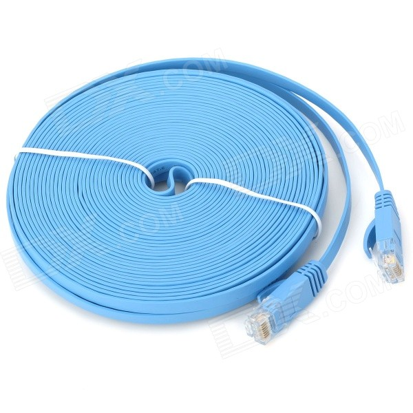 Ultra-Thin CAT-6 Male to Male RJ45 Ethernet LAN Cable - Blue (15M-Length) new total english advanced student s book with active book cd rom