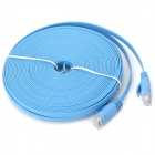 Ultra-Thin CAT-6 Male to Male RJ45 Ethernet LAN Cable - Blue (15M-Length)