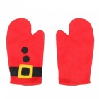 Premium Heat-Insulated Baking Mat Pad with Anti-Hot Oven Gloves for Christmas Decoration (3 PCS)