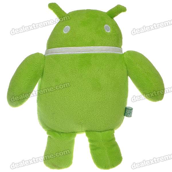 Cute Android Robot Soft Plush Doll - Green