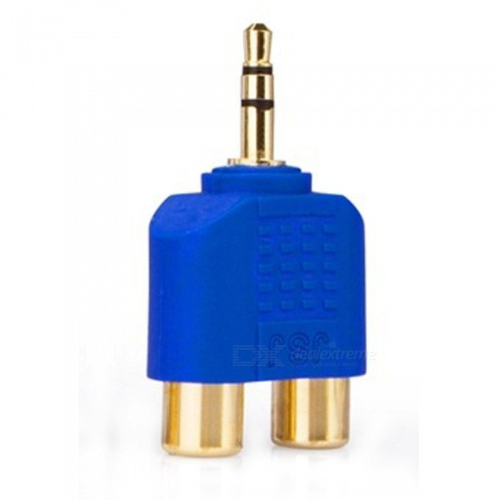 ZHAOYAO Gold-Plated Stereo Sound 3.5mm Male to 2 RCA Female Audio Converter Connector - BlueAV Adapters And Converters<br>Form  ColorBlue + GoldenShade Of ColorBlueCable Length0 cmLengthOtherMaterialGold-platedQuantity1 setConnector3.5mm,RCAPower AdapterOthers,-Packing List1 x Audio Converter Connector<br>