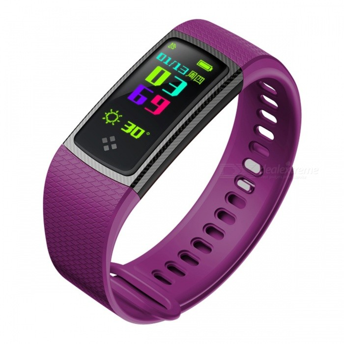 S9 Sports Intelligent Smart Bracelet Wristband with Blood Oxygen, Blood Pressure, Heart Rate Monitor - PurpleSmart Bracelets<br>Form  ColorPurple + BlackQuantity1 setMaterialABSShade Of ColorPurpleWater-proofIP67Bluetooth VersionBluetooth V4.0Touch Screen TypeYesCompatible OSAndroid 4.3 and above or iOS 8.0 and aboveBattery Capacity90 mAhBattery TypeLi-polymer batteryStandby Time5-7 daysPacking List1 x Smart Bracelet1 x Charging cable1 x User Manual<br>