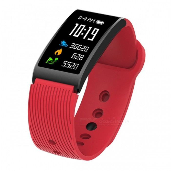 X3 Smart Bracelet IP68 Waterproof Bluetooth Wristband Sports Fitness Tracker with Heart Rate Monitoring, Pedometer - RedSmart Bracelets<br>Form  ColorRedQuantity1 setMaterialABSShade Of ColorRedWater-proofIP68Bluetooth VersionBluetooth V4.0Touch Screen TypeYesCompatible OSAndroid 4.4 / iOS 8.0 and above systemsBattery Capacity120 mAhBattery TypeLi-polymer batteryStandby Time5-7 hourPacking List1 x Smart Bracelet1 x Charging cable1 x User Manual<br>