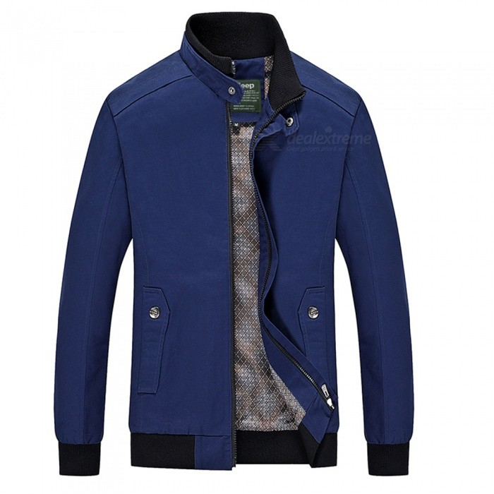 555 Casual Style Long Sleeved Pure Color Zipper Mens Cotton Slim Jacket for Outdoor Activities - Blue (3XL)Jackets and Coats<br>Form  ColorBlueSizeXXXLModel555Quantity1 pieceShade Of ColorBlueMaterialCotton and polyesterStyleFashionTop FlyZipperShoulder Width48.1 cmChest Girth118 cmWaist Girth112 cmSleeve Length67.5 cmTotal Length71 cmSuitable for Height180 cmPacking List1 x Coat<br>