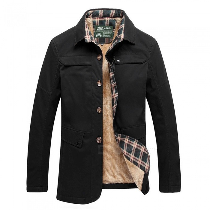 77092 Mens Fashion Winter Warm Cashmere Lapel Casual Outdoor Jacket Coat Outwear - Black (2XL)Jackets and Coats<br>Form  ColorBlackSizeXXLModel77092Quantity1 pieceShade Of ColorBlackMaterialCotton and polyesterStyleFashionTop FlyZipperShoulder Width49 cmChest Girth112 cmWaist Girth112 cmSleeve Length63 cmTotal Length71 cmSuitable for Height180 cmPacking List1 x Coat<br>