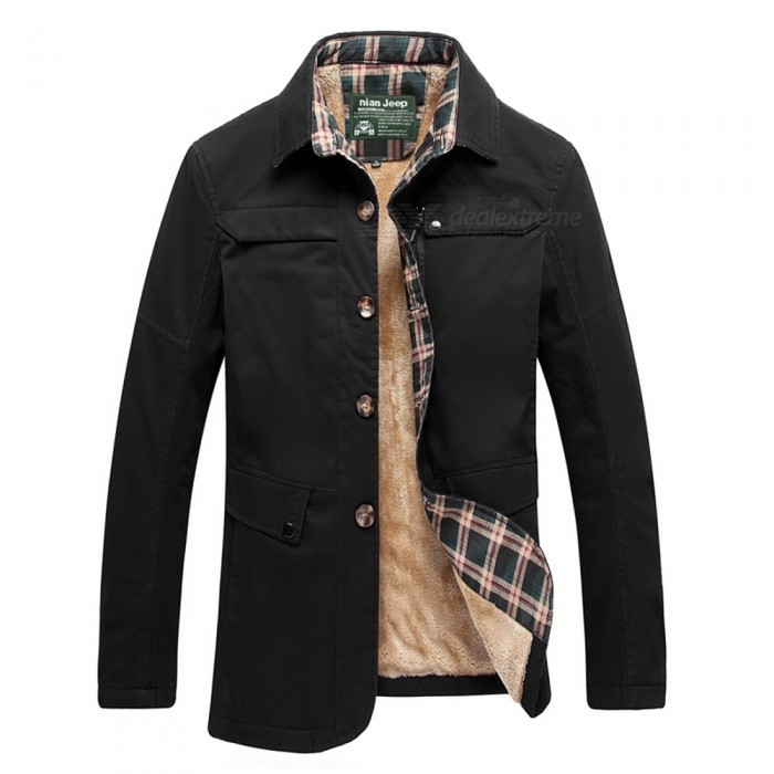 77092 Mens Fashion Winter Warm Cashmere Lapel Casual Outdoor Jacket Coat Outwear - Black (3XL)Jackets and Coats<br>Form  ColorBlackSizeXXXLModel77092Quantity1 DX.PCM.Model.AttributeModel.UnitShade Of ColorBlackMaterialCotton and polyesterStyleFashionTop FlyZipperShoulder Width51 DX.PCM.Model.AttributeModel.UnitChest Girth116 DX.PCM.Model.AttributeModel.UnitWaist Girth116 DX.PCM.Model.AttributeModel.UnitSleeve Length64 DX.PCM.Model.AttributeModel.UnitTotal Length72 DX.PCM.Model.AttributeModel.UnitSuitable for Height185 DX.PCM.Model.AttributeModel.UnitPacking List1 x Coat<br>