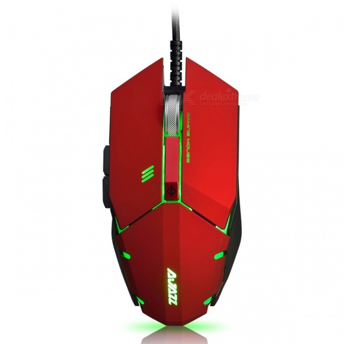 Ajazz GTC 7-Button A3050 Chipset Gaming Mouse 500/1000/1500/2000/3000/4000 DPI - Red