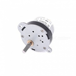 ZHAOYAO 30RPM 5mm Shaft Dia Pernament Magnetic DC 12V Gearbox Geared Motor - White