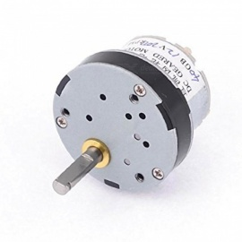 ZHAOYAO 200RPM 5mm Shaft Dia Pernament Magnetic DC 12V Gearbox Geared Motor - White