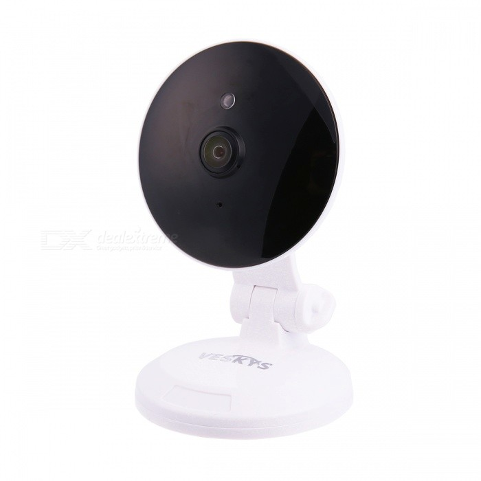 VESKYS 960P 180 Degree 1.3MP Panoramic Fisheye VR Wireless Security IP Camera with a Pickup (US Plug)IP Cameras<br>Form  ColorWhitePower AdapterUS PlugModelN/AMaterialABSQuantity1 pieceImage SensorCMOSImage Sensor SizeOthers,1/4inchPixels1.3MPLensOthers,1.44mm Fisheye LensViewing AngleOthers,180 °Video Compressed FormatH.264Picture Resolution1280* 960Frame Rate25FPSInput/OutputTwo-way voiceMinimum Illumination0.1 LuxNight VisionYesIR-LED Quantity3Night Vision Distance10 mWireless / WiFi802.11 b / g / nNetwork ProtocolTCP,IP,UDP,HTTP,SMTP,uPnP,PPPoE,TFTPSupported SystemsOthers,NOSupported BrowserOthers,NOSIM Card SlotNoOnline Visitor4IP ModeDynamicMobile Phone PlatformAndroid,iOSFree DDNSYesIR-CUTYesBuilt-in Memory / RAMNoLocal MemoryYesMemory CardTF cardMax. Memory Supported128GBMotorNoSupported LanguagesEnglish,Simplified ChineseWater-proofNoPacking List1 x IP camera 1 x USB Cable (300cm)1 x US Plug power adapter (110~240V)1 x English user manual 1 x Pack of installation accessories<br>