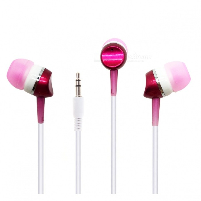 Portable Lightweight Wired In-Ear Earphone with 3.5mm Plug for Cell PhonesHeadphones<br>Form  ColorPink + WhiteBrandOthers,N/AMaterialABSQuantity1 pieceConnection3.5mm WiredBluetooth VersionNoCable Length120 cmLeft &amp; Right Cables TypeEqual LengthHeadphone StyleBilateral,Earbud,In-EarWaterproof LevelIPX0 (Not Protected)Applicable ProductsUniversalHeadphone FeaturesLightweight,Portable,For Sports &amp; ExerciseRadio TunerNoSupport Memory CardNoSupport Apt-XNoPacking List1 x In-ear headphone<br>