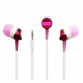 Stylish In-Ear Earphones with 3.5mm Plug for Cell Phones - Silver + White