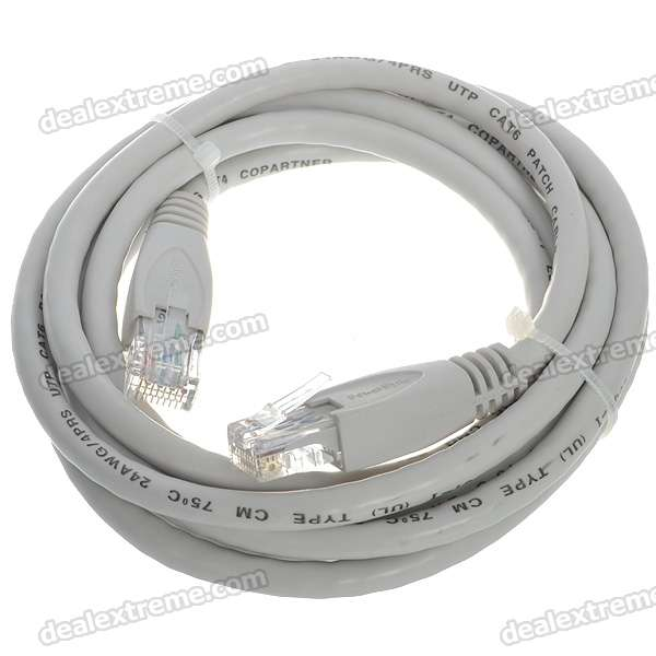 24AWG 4PRS Power Sync Cat 6 RJ-45 Network Line Cable (2M)