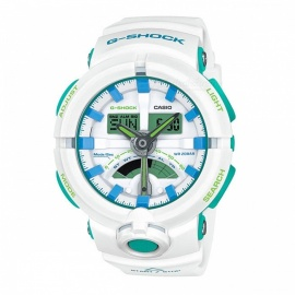 Casio G-shock GA-500WG-7A 200-meter Water Resistance Sport Watch - White + Blue + Green