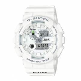 Casio G-Shock GAX-100A-7A G-LIDE Magnetic Resistant 200-meter Water Resistance Sport Watch with Thermometer - White