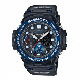 Casio G-Shock GN-100B-1A 200-meter Water Resistance Gulfmaster Series Sport Digital Compass Watch with Thermometer - Black+Blue