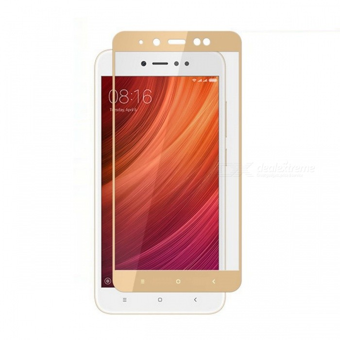 Naxtop Full Screen Protector Tempered Glass for Redmi Note 5A (2GB+16GB) - GoldScreen Protectors<br>Form  ColorGoldenScreen TypeGlossyModelN/AMaterialTempered GlassQuantity1 pieceCompatible ModelsXiaomi Redmi Note 5A (2GB+16GB)Features2.5D,Fingerprint-proof,Scratch-proof,Tempered glassPacking List1 x Tempered glass film1 x Wet wipe1 x Dry wipe1 x Dust absorber<br>