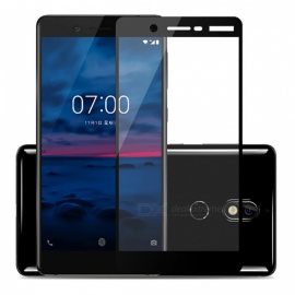 Naxtop Tempered Glass Full Screen Protector for Nokia 7 - Black