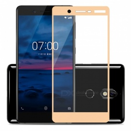 Naxtop Full Screen Protector Tempered Glass for Nokia 7 - Gold