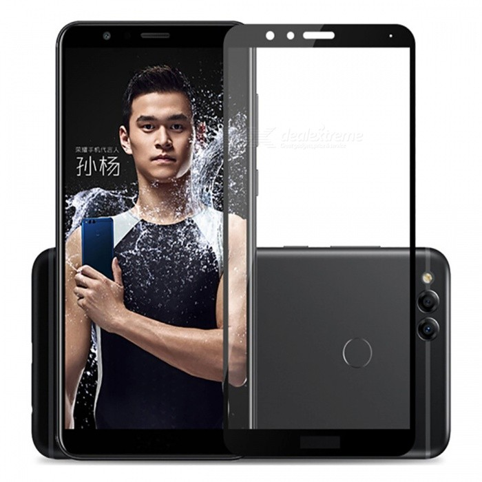 Naxtop Tempered Glass Full Screen Protector for Huawei Honor 7X - BlackScreen Protectors<br>Form  ColorBlackScreen TypeGlossyModelN/AMaterialTempered GlassQuantity1 pieceCompatible ModelsHuawei Honor 7XFeatures2.5D,Fingerprint-proof,Scratch-proof,Tempered glassPacking List1 x Tempered glass film1 x Wet wipe1 x Dry wipe1 x Dust absorber<br>