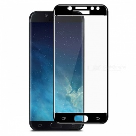 Naxtop Full Screen Protector Tempered Glass for Samsung Galaxy J7 Pro - Black