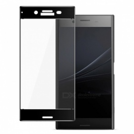 Naxtop Tempered Glass Full Screen Protector for Sony Xperia XZ Premium - Black