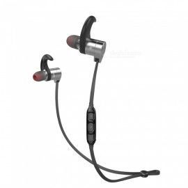 AWEI AK3 Magnetic Bluetooth Earphones IPX4 Waterproof Wireless Headset - Gray