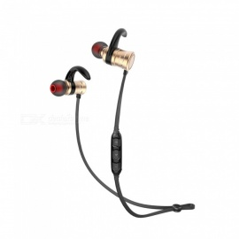 AWEI AK5 Magnetic Bluetooth Earphones IPX4 Waterproof Wireless Headset - Gold