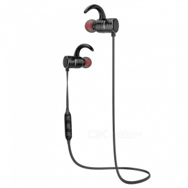 AWEI AK7 Magnetic Bluetooth Earphones IPX4 Waterproof Wireless Headset - Black
