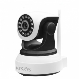 VESKYS T2 720P Wi-Fi Security IP Camera Baby Monitor with TF Card Slot - US Plug