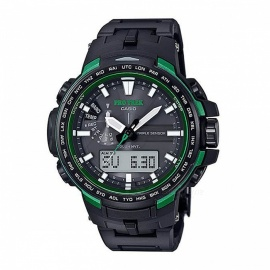 Casio Pro Trek PRW-6100FC-1 Solar Powered Analog Compass Watch with Altimeter / Barometer / Thermometer - Black + Green