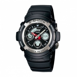 Casio G-Shock AW-590-1A 200-Meter Water Resistance Shock Resistant Sport Watch - Black