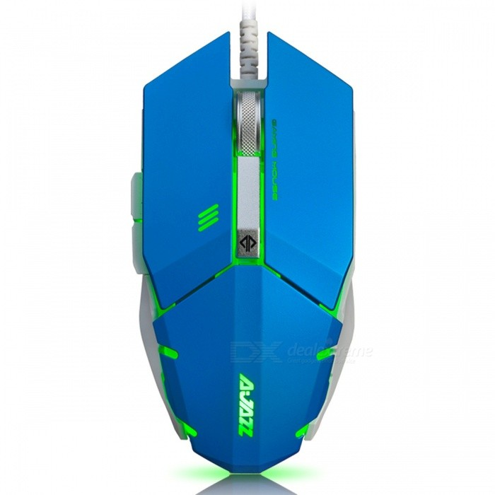 Ajazz GTC 7-Button A3050 Chipset Gaming Mouse 500/1000/1500/2000/3000/4000 DPI - Blue