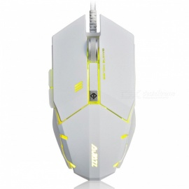 Ajazz GTC 7-Button A3050 Chipset Gaming Mouse 500/1000/1500/2000/3000/4000 DPI - White