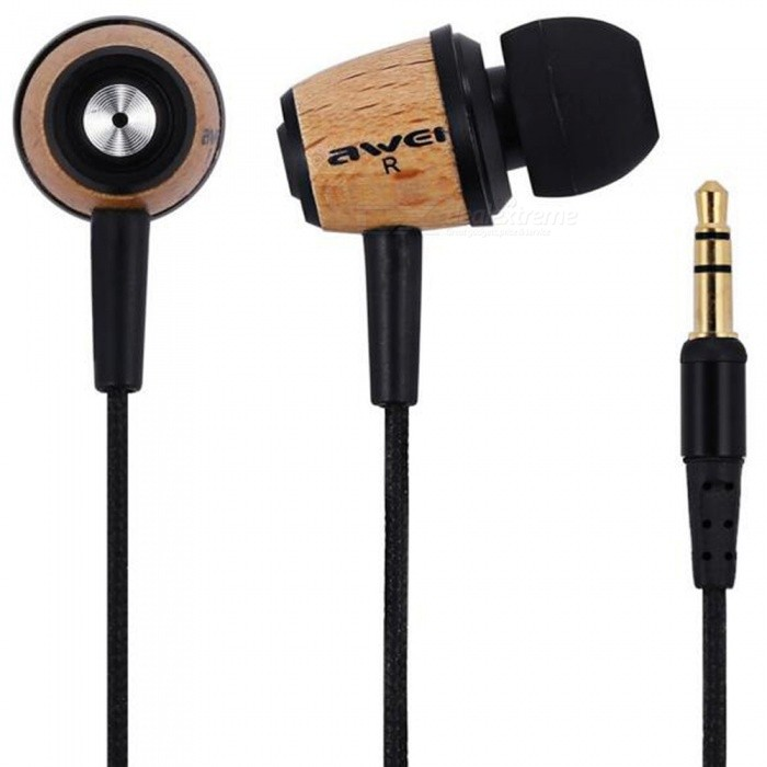 AWEI Q9 In-Ear Earphones Stereo HiFi Wooden Earbuds with 3.5mm JackHeadphones<br>Form  ColorWoodBrandAWEIModelQ9MaterialWoodQuantity1 setConnection3.5mm WiredBluetooth VersionNoCable Length120 cmHeadphone StyleBilateral,Earbud,In-EarWaterproof LevelIPX0 (Not Protected)Applicable ProductsUniversalHeadphone FeaturesLong Time Standby,Noise-Canceling,With Microphone,Lightweight,Portable,For Sports &amp; ExerciseSupport Memory CardNoSupport Apt-XNoSensitivity95dBFrequency Response20-20000HZImpedance32 ohmPacking List1 x Earphones2 x Pair of Earbud Tips1 x Cable Clip<br>