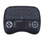 iPazzPort Mini 2.4G Wireless Multi-Touch USB Keyboard with RGB LED Backlit for Tablet PC, Computer, Etc - Black