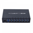 Portable High Speed 7-Port USB 3.0 Hub for Tablet PC, Computer, Laptops - Black