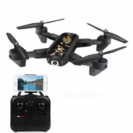 DM107S inklapbaar 2,4-GHz 6-assige gyro wifi FPV RC helicopter quadcopter drone met 2.0MP HD-camera - zwart