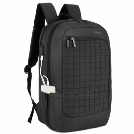 DTBG D8224W 17.3 Inches Laptop Backpack with USB Charging Port for Men / Women - Black
