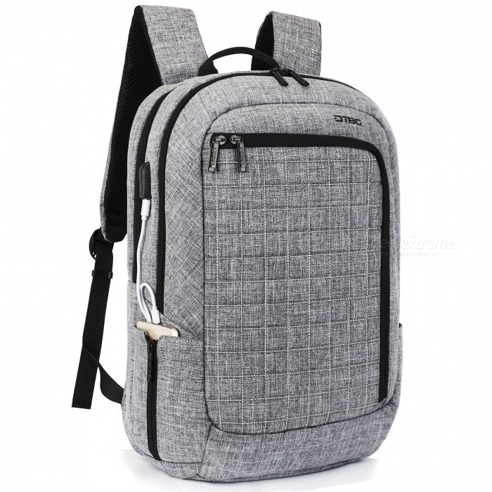 DTBG D8224W 17.3 Inches Laptop Backpack with USB Charging Port for Men / Women - GreyBags and Pouches<br>Form  ColorGreyModelD8224WQuantity1 pieceShade Of ColorGrayMaterialNylonCompatible Size17.3 inchTypeBackpacksPacking List1 x Backpack<br>