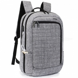 DTBG D8224W 17.3 Inches Laptop Backpack with USB Charging Port for Men / Women - Grey