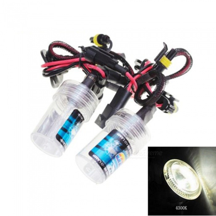 HB3 / 9005 Universal 12V 35W 4300K 3500LM Automobile Car HID Xenon Light Bulb Headlight - Warm WhiteHeadlights<br>Color Temperature4300KModel9005Quantity1 DX.PCM.Model.AttributeModel.UnitMaterialPlastic + quartz tubeForm  ColorBlack + Red + Multi-ColoredTypeHID LampCompatible Car ModelSuitable for all cars with HB3 and 9005 interfacesTypeACInput Voltage9~16 DX.PCM.Model.AttributeModel.UnitRate Voltage12VOutput Power35 DX.PCM.Model.AttributeModel.UnitColor BINWarm WhiteTheoretical Lumens3500 DX.PCM.Model.AttributeModel.UnitActual Lumens3500 DX.PCM.Model.AttributeModel.UnitSocket Type9005Packing List2 x Xenon Headlights<br>