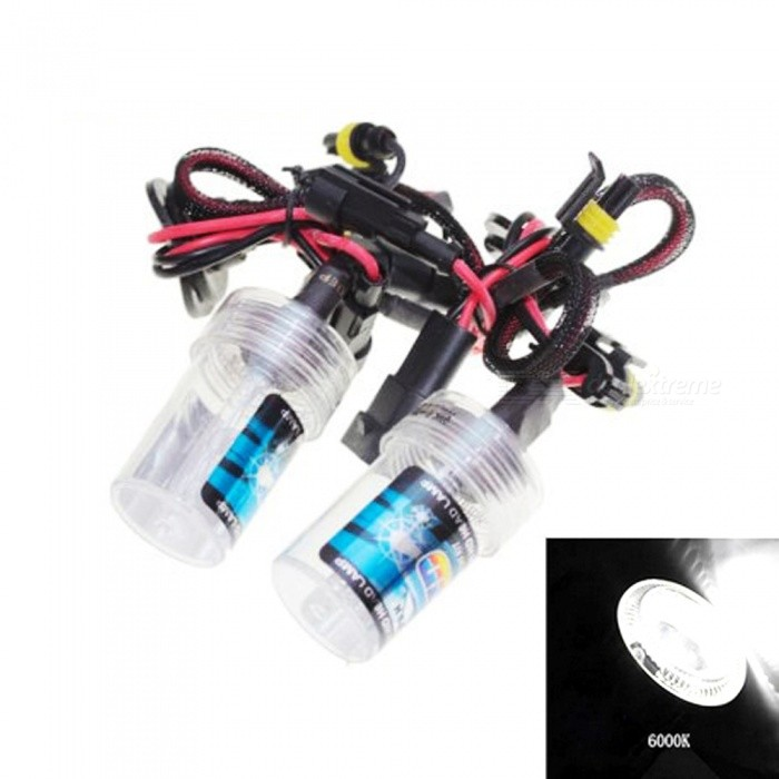 HB4 / 9006 Universal 12V 35W 6000K 3500LM Automobile Car HID Xenon Light Bulb Headlight - White LightHeadlights<br>Color Temperature6000KModel9006Quantity1 DX.PCM.Model.AttributeModel.UnitMaterialPlastic + quartz tubeForm  ColorBlack + Red + Multi-ColoredTypeHID LampCompatible Car ModelSuitable for all cars with HB4 / 9006 interfaceTypeACInput Voltage9~16 DX.PCM.Model.AttributeModel.UnitRate Voltage12VOutput Power35 DX.PCM.Model.AttributeModel.UnitColor BINWhiteTheoretical Lumens3500 DX.PCM.Model.AttributeModel.UnitActual Lumens3500 DX.PCM.Model.AttributeModel.UnitSocket Type9006Packing List2 x Xenon Headlights<br>