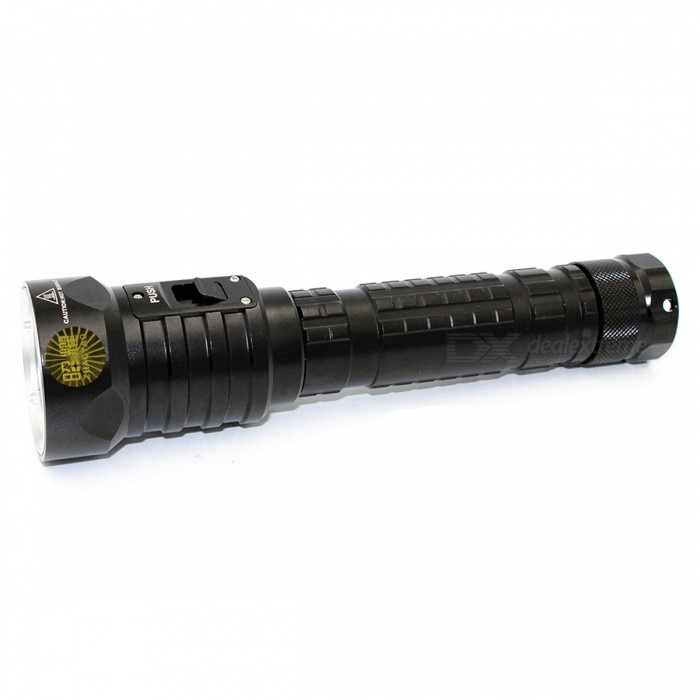 ZHAOYAO XM-L2 Handheld Waterproof 100m Super Bright 3-Mode LED Diving Flashlight Torch - BlackDiving Flashlights<br>Form  ColorBlackQuantity1 setMaterialAluminium alloyEmitter BrandCreeLED TypeXM-L2Emitter BINothers,L2Color BINWhiteNumber of Emitters4Theoretical Lumens4000 lumensActual Lumens3200 lumensPower Supply2x18650/2x26650Working Voltage   7.2~8.4 VCurrent1800·2240 mARuntime3~4 hoursNumber of Modes3Mode ArrangementHiMode MemoryNoSwitch TypeForward clickySwitch LocationHeadLens MaterialGlassReflectorAluminum SmoothWorking Depth Underwater100 mStrap/ClipStrap included,NoPacking List1 x Diving Flashlight1 x Strap 2 x Cell tubes<br>
