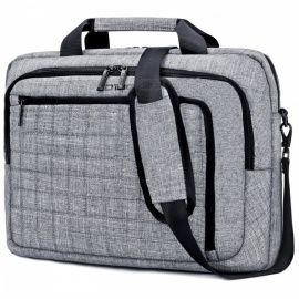 "DTBG 15.6"" Laptop Case Shoulder Bag Briefcase Bag with Removable Shoulder Strap / USB Charging Port - Grey"